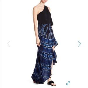 Young fabulous and broke maxi skirt tie dye S